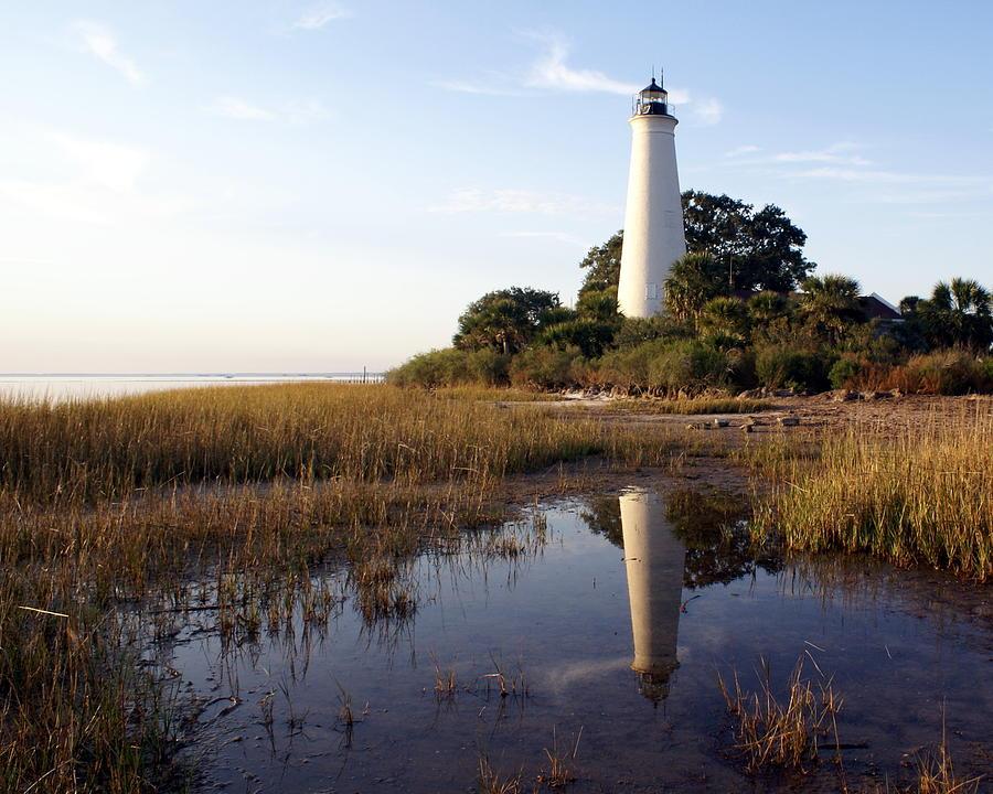 Lighthouse Photograph - Gulf Coast Lighthouse2  by Marty Koch