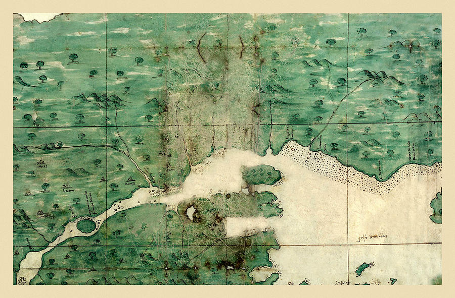 Map Of Quebec Photograph - Gulf Of St Lawrence 1541 by Andrew Fare