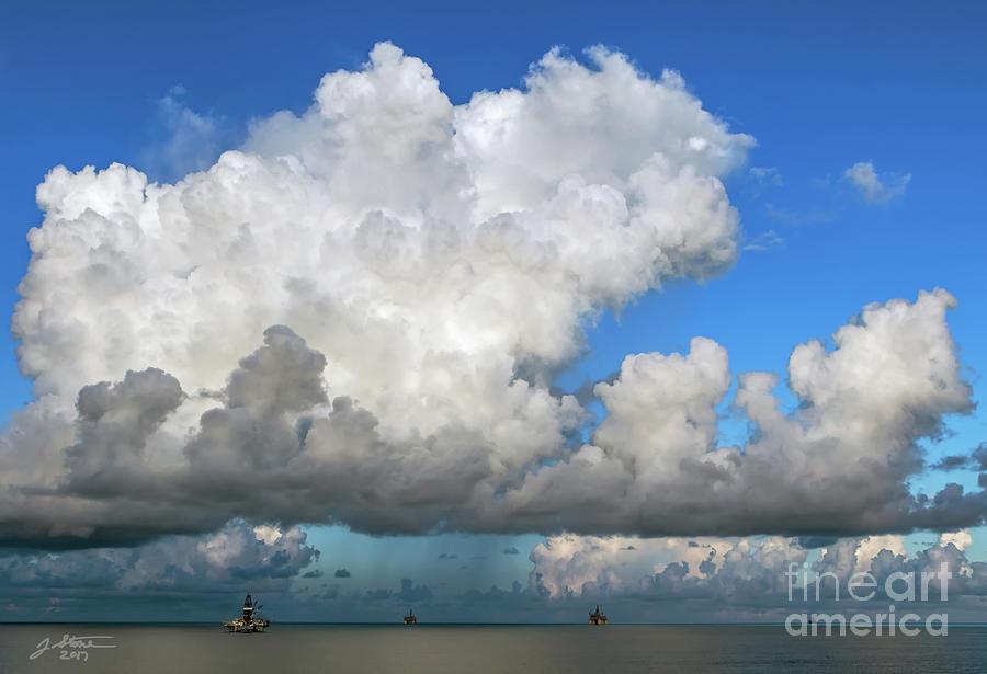 Gulf Oil Rigs Photograph by Jeffrey Stone