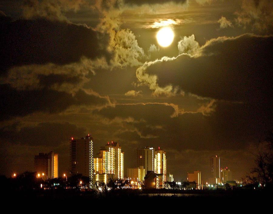 Beach Painting - Gulf Shores Night Skys by Michael Thomas