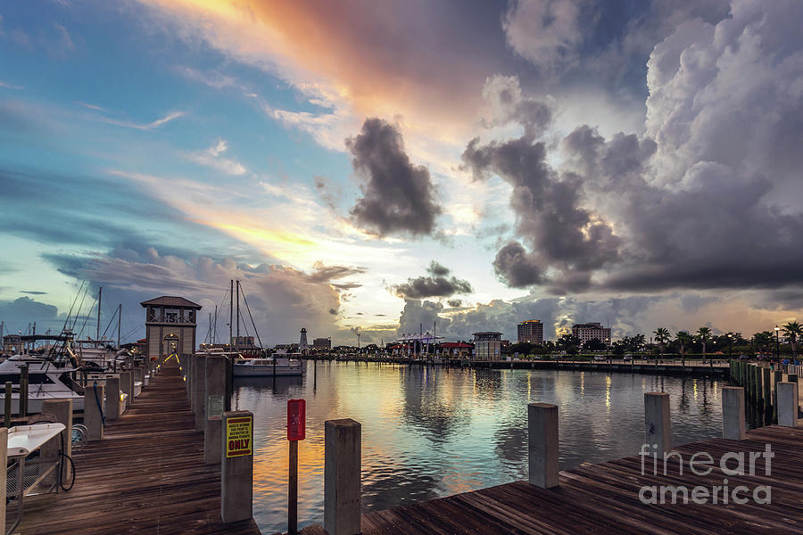 Harbor Photograph - Gulfport Harbor Colors by Joan McCool