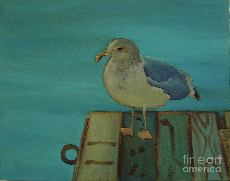 Sea Gull Painting - Gull and Ring by Lilibeth Andre
