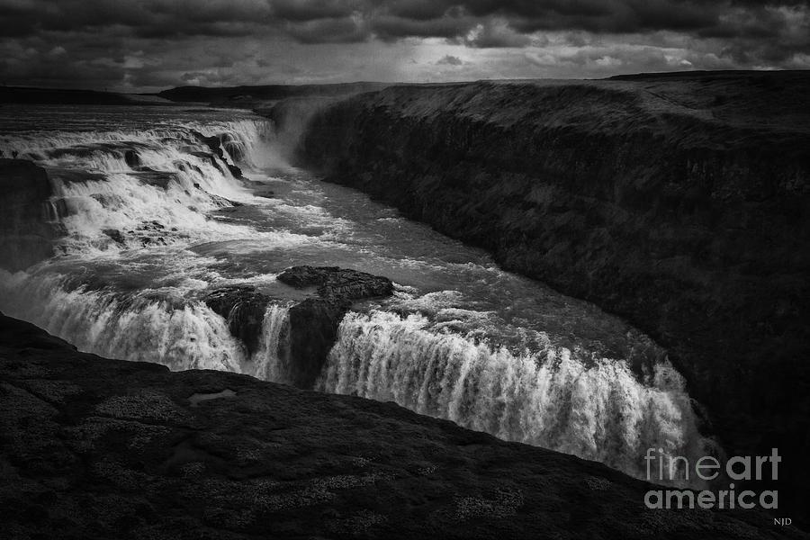 Iceland Photograph - Gullfoss Waterfall by Nancy Dempsey