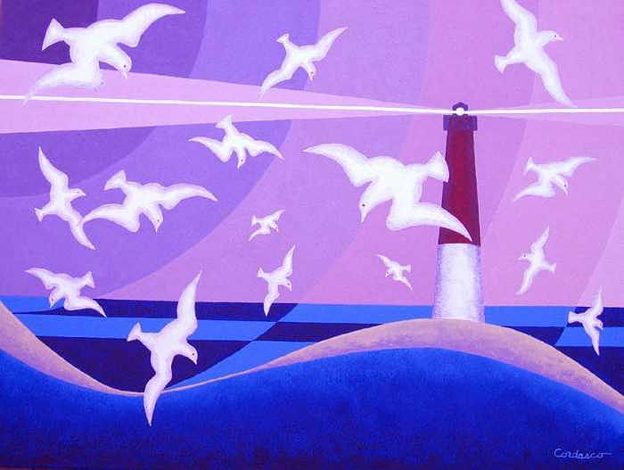 Seagulls Painting - Gulls Of Barnegat Bay by James Cordasco