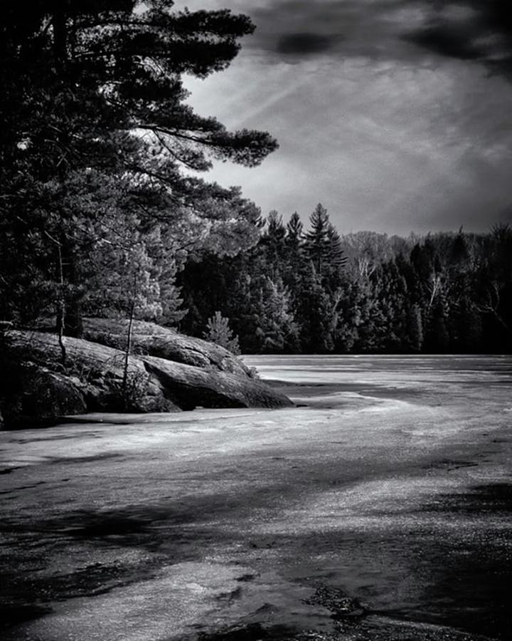 Bnw Photograph - Gullwing Lake. From An Early Spring by Brian Carson