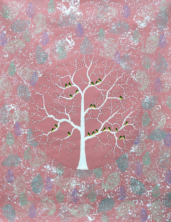 Treescape Painting - Gulvan Vriksh by Sumit Mehndiratta