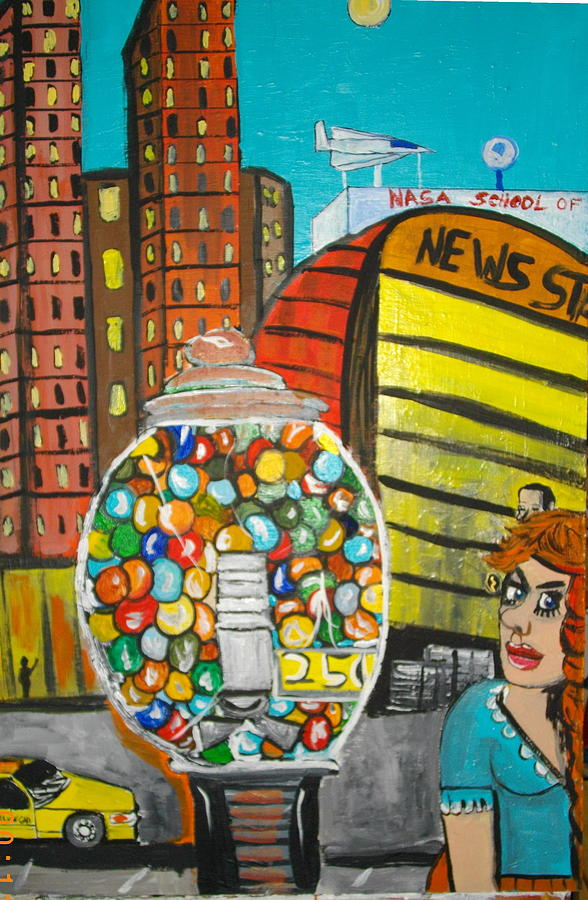 Gum Ball Painting by Jeffrey Foti