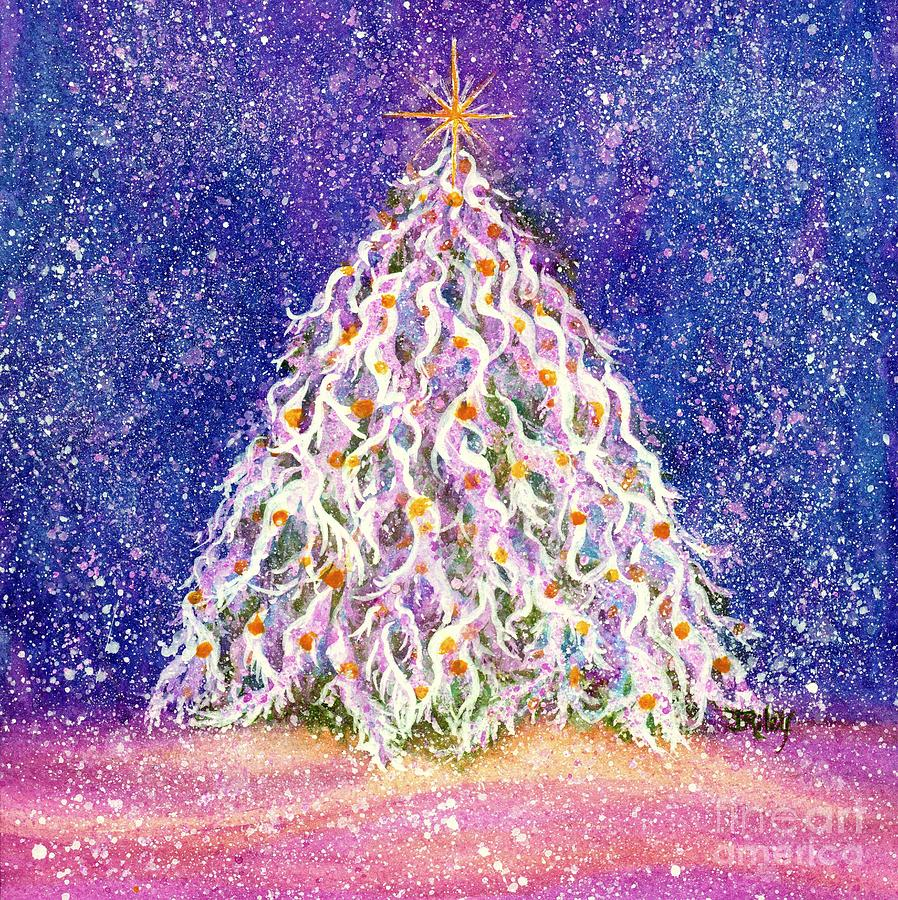 christmas tree painting gumdrop forest christmas tree by janine riley