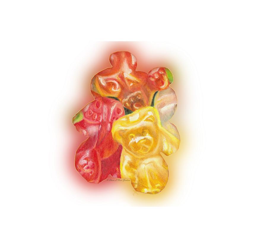 gummy bear drawing by shana rowe jackson