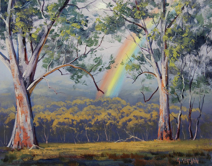 Rural Painting - Gums with Rainbow by Graham Gercken
