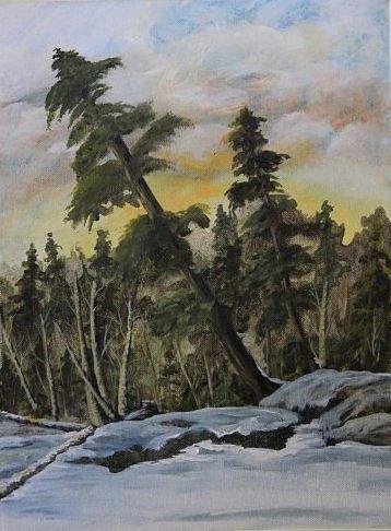 Landscape Painting - Gunflint Winter by Joi Electa