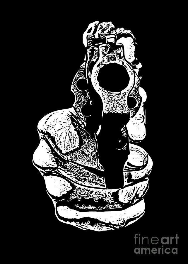 Gunman Photograph - Gunman T-shirt by Edward Fielding
