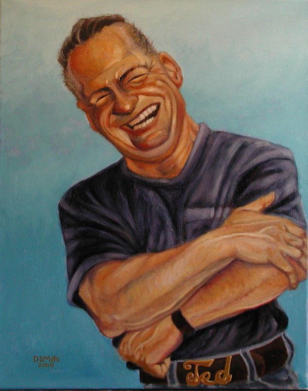 Caricature Painting - Gunny Mills by Dan Mills