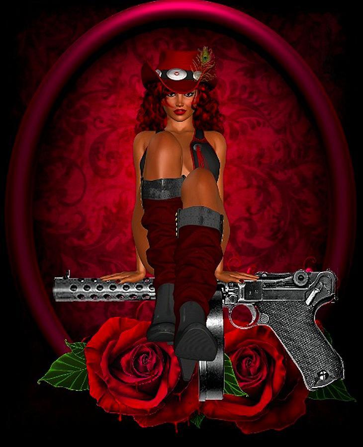 Guns Photograph - Guns And Roses by G Berry