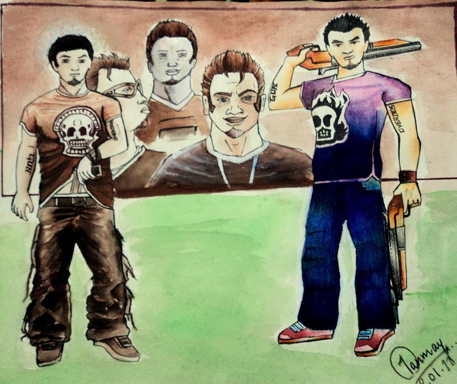 Gunslinger Painting - Gunslinger by Tanmay Singh