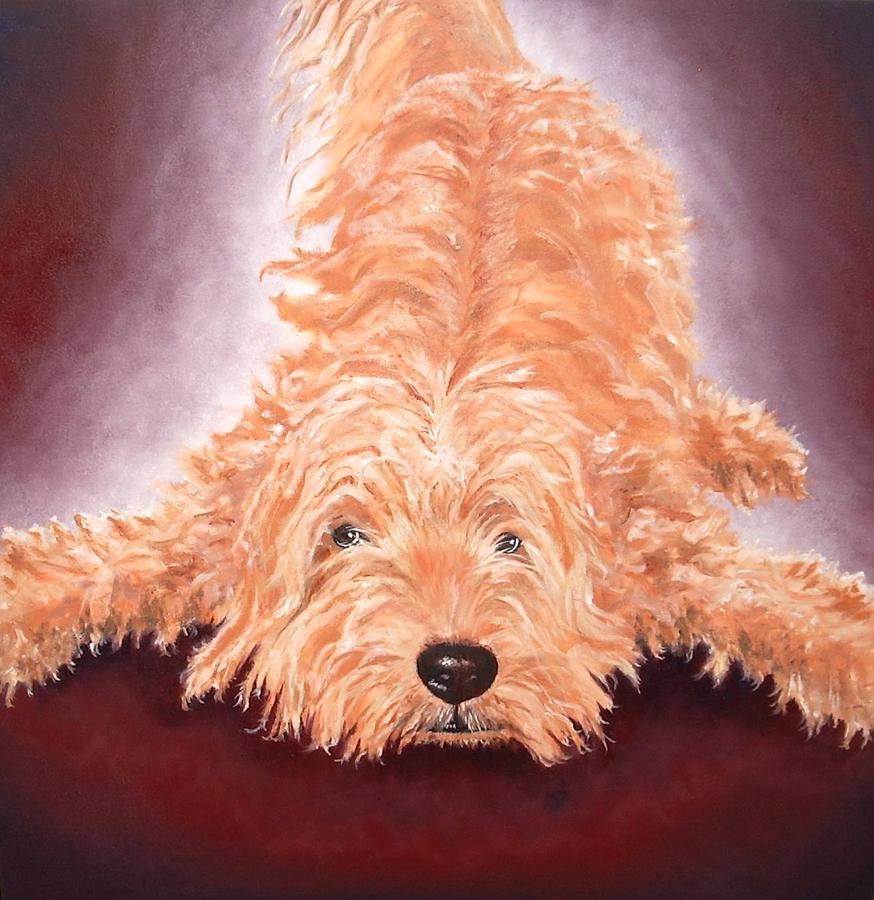 Dog Painting - Gunther by Diane Daigle
