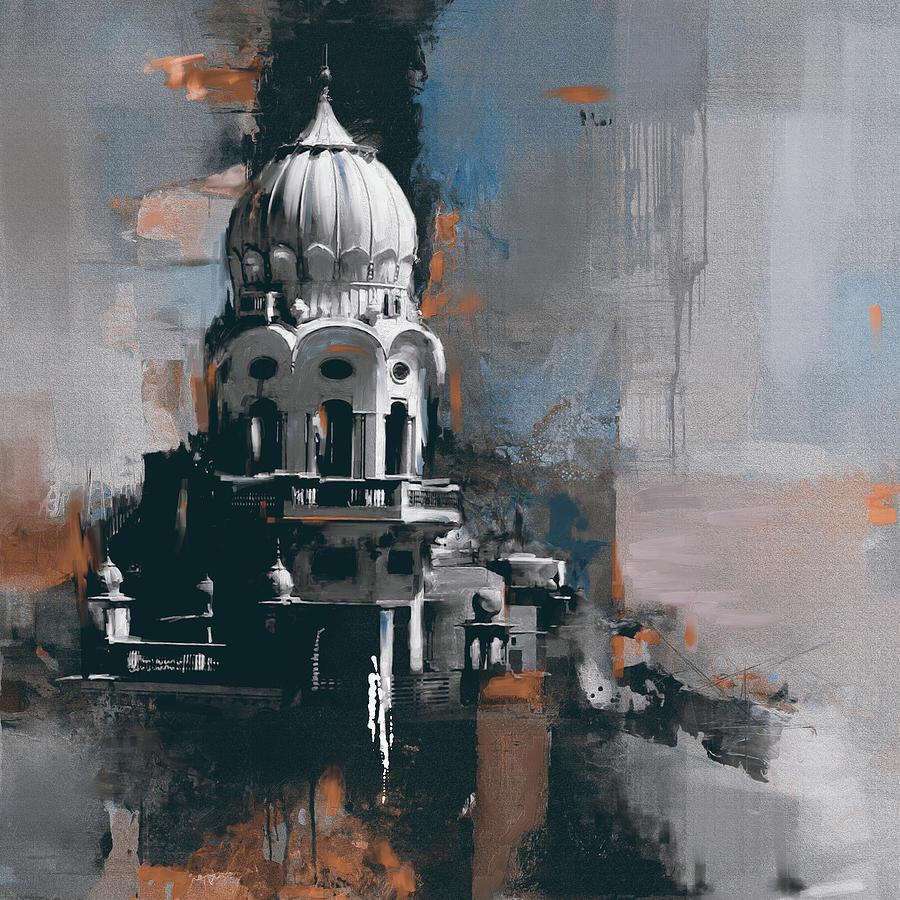 City Painting - Gurdwara 190 IIi by Mawra Tahreem
