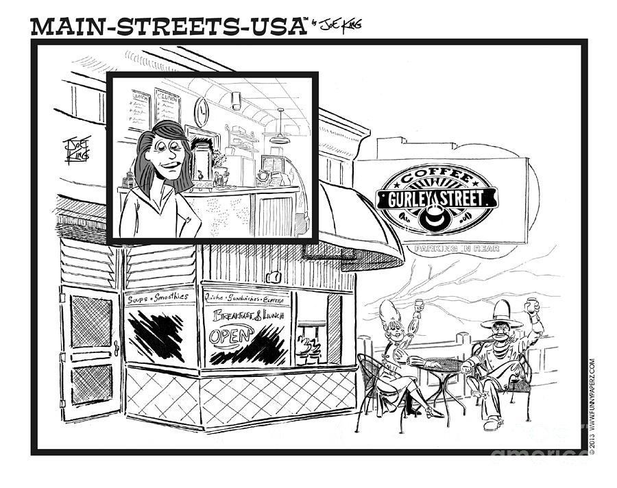 Street Scape Digital Art - Gurley Street Coffee by Joe King