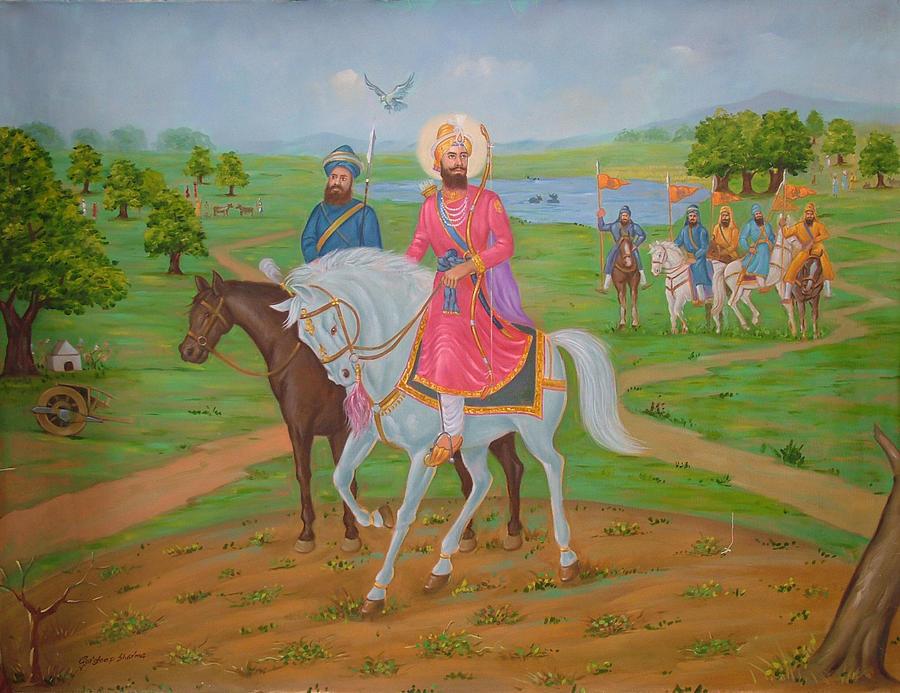Guru Gobind Singh Ji Painting - Guru Gobind Singh Ji by Gurdeep Sharma