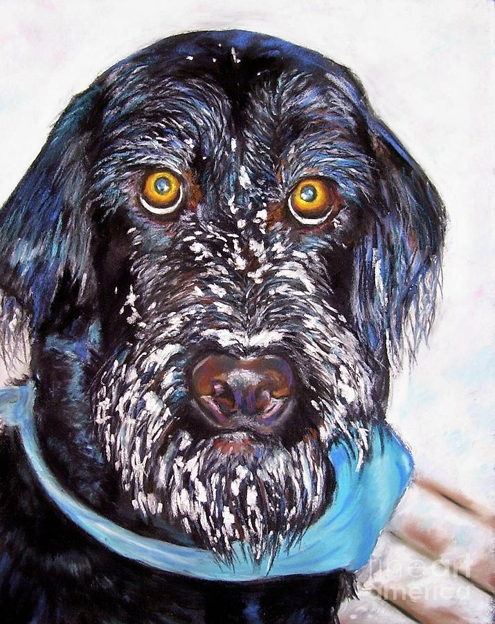 Dog Painting - Gus by Frances Marino