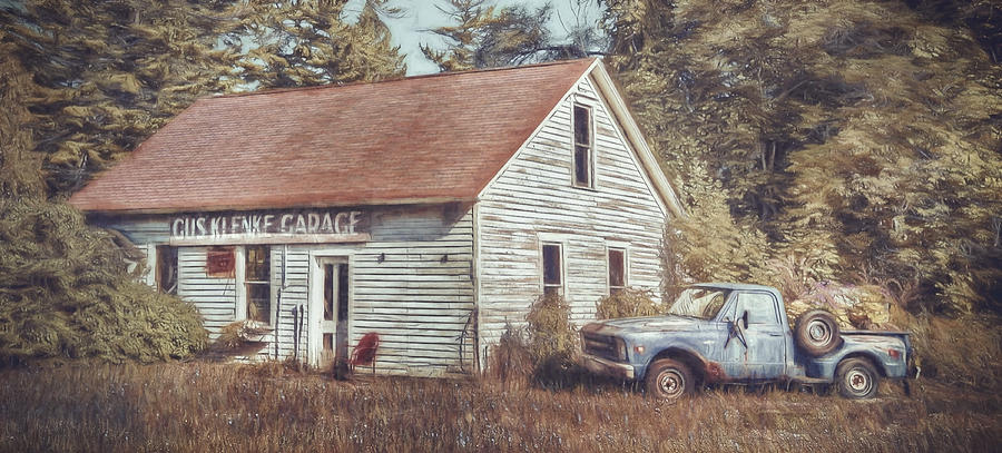 Door County Photograph - Gus Klenke Garage by Scott Norris