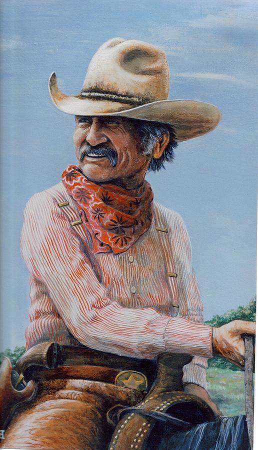 Cowboy Print - Gus by Lee Bowerman
