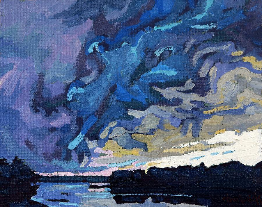 Shelf Painting - Gust Front by Phil Chadwick