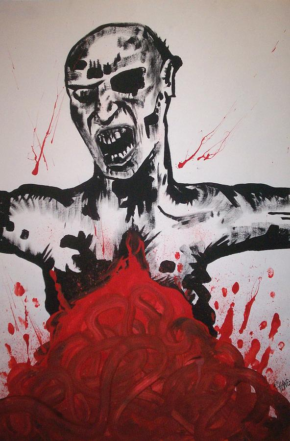 Zombie Painting - Gutted by Sam Hane