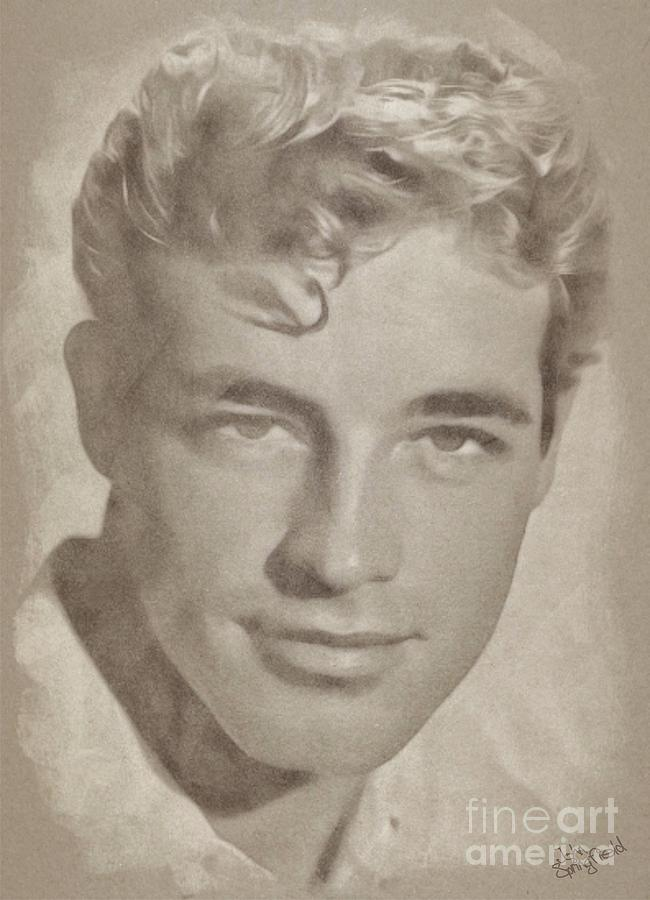 Guy Madison, Vintage Actor Drawing