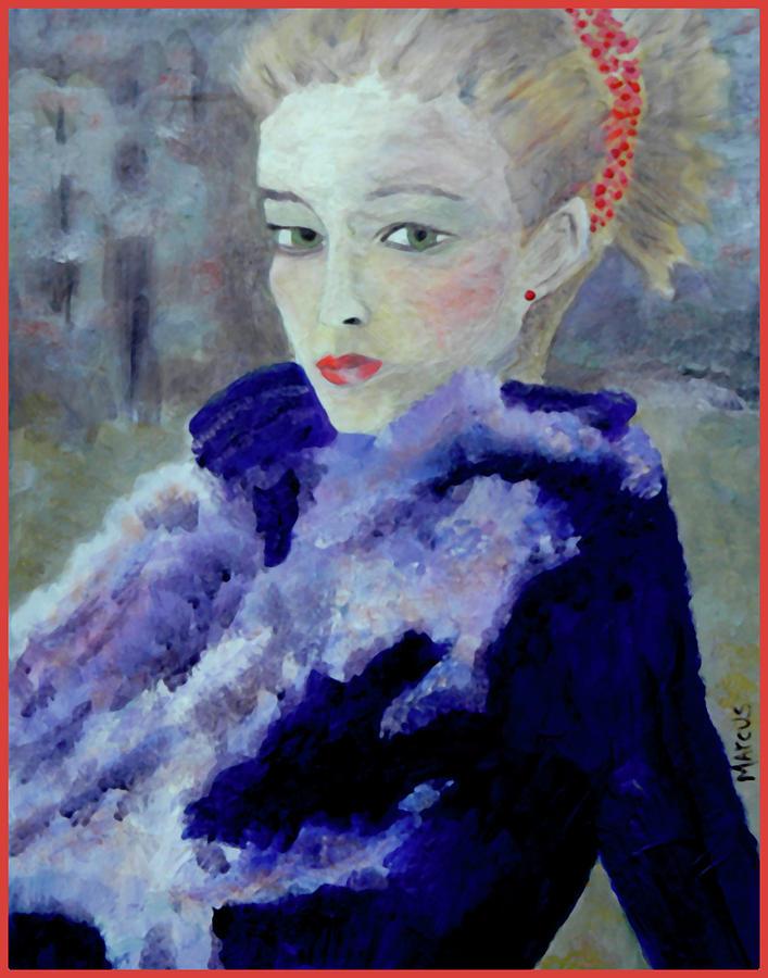 Female Painting - Gwendelin by Leslie Marcus