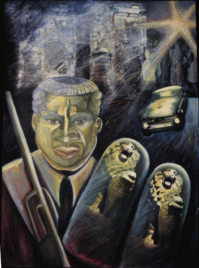 African Painting - Gwo Neg Hashem by Barbara Nesin