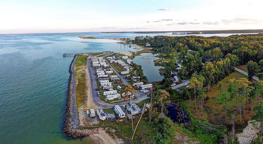 Virginia Photograph - Gwynns Island 1 by Tredegar DroneWorks