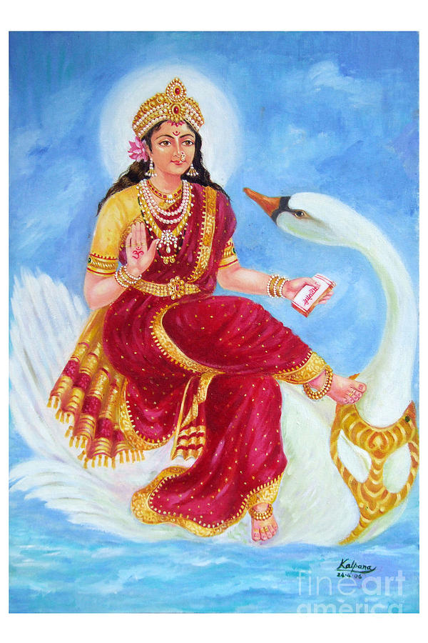 Gyatri Devi Painting - Gyatri Devi by Kalpana Talpade Ranadive