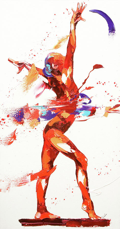 Gymnast Four Painting By Penny Warden