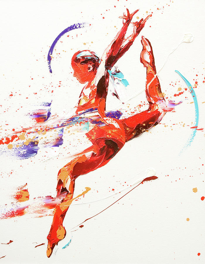 Gymnast Two Painting By Penny Warden