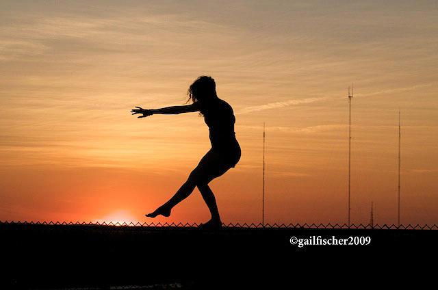 Sunset Photograph - Gymnastics At Millennium Park 2 by Gail Fischer
