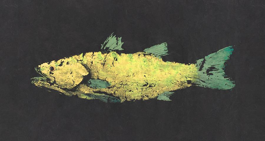 Gyotaku Painting - Gyotaku Snook by Captain Warren Sellers