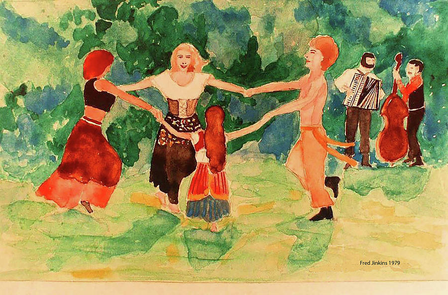 Dance Mixed Media - Gypsies Dancing by Fred Jinkins