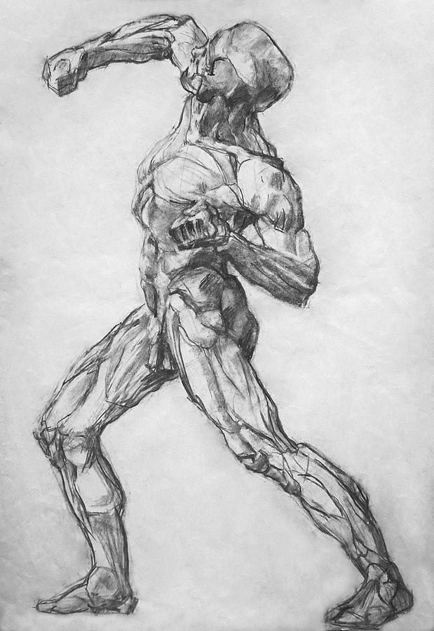 Nude Drawing - Gypsum Drawing Model by Iliyan Bozhanov