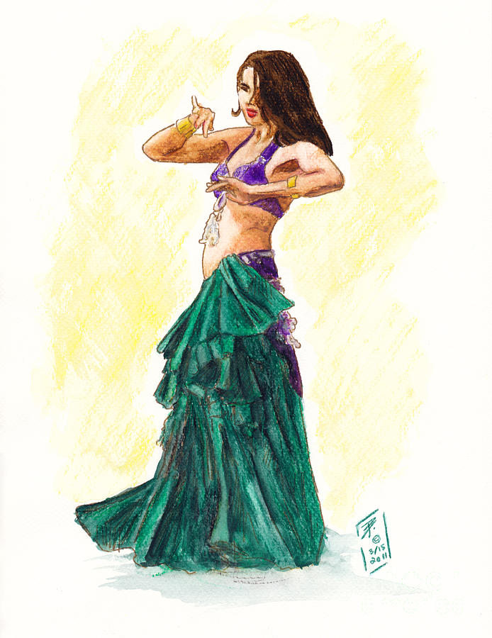 Gypsy Painting - Gypsy by Brandy Woods