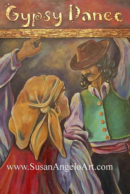 Figure Painting - Gypsy Dance by Susan-Angelo  DeBay