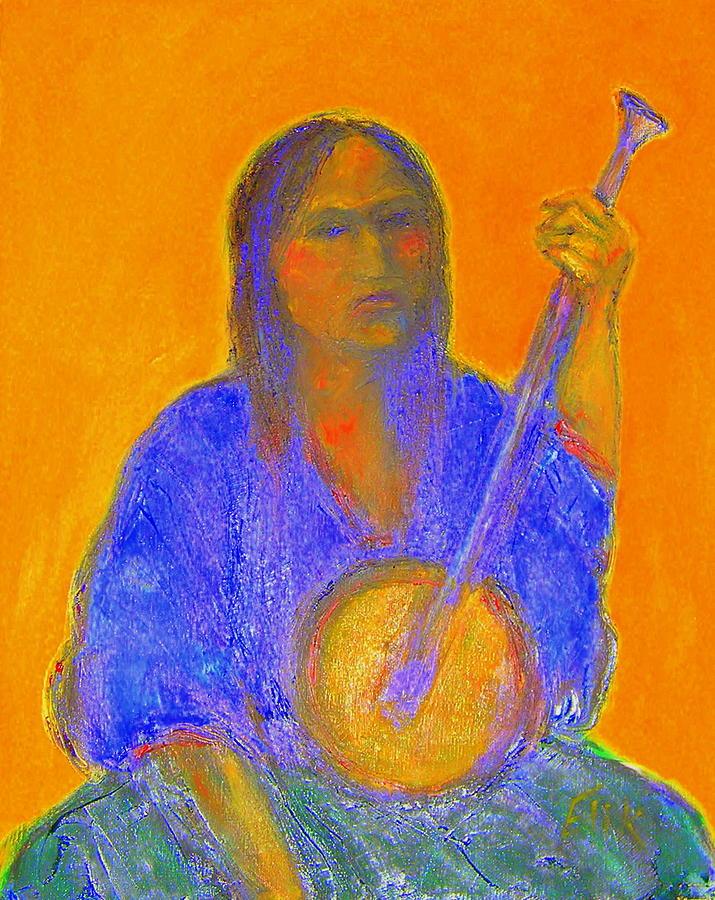 Ethnic Portraits Painting - Gypsy Girl 11 by Johanna Elik