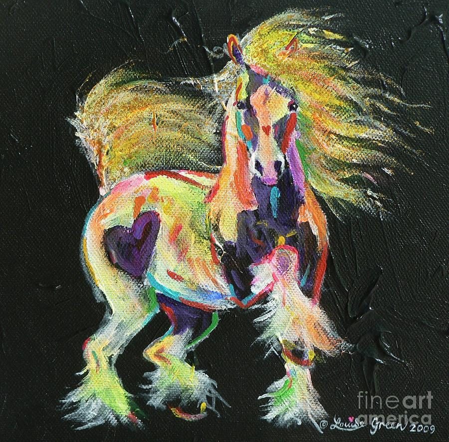 Painted Ponies Painting - Gypsy Gold Pony by Louise Green