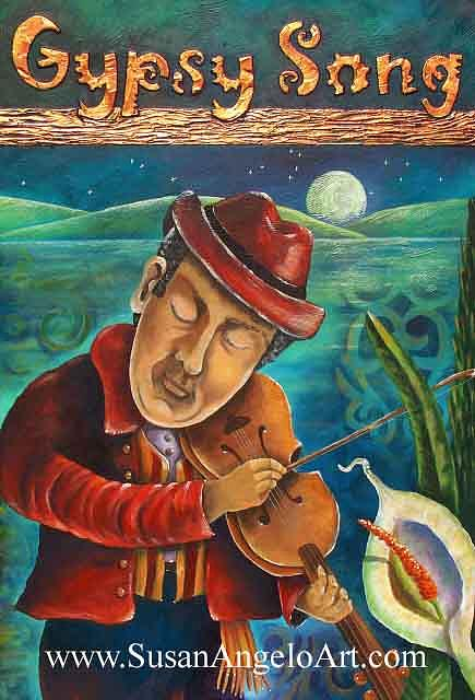 Figure Painting - Gypsy Song by Susan-Angelo  DeBay