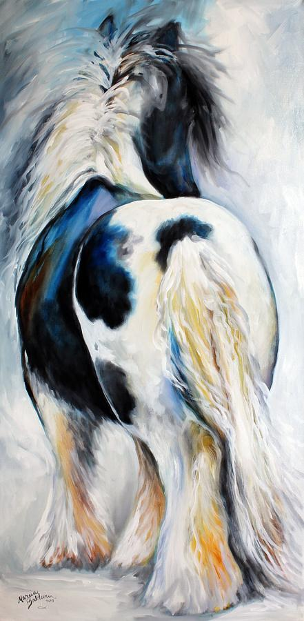Horse Painting - Gypsy Vanner Modern Abstract by Marcia Baldwin