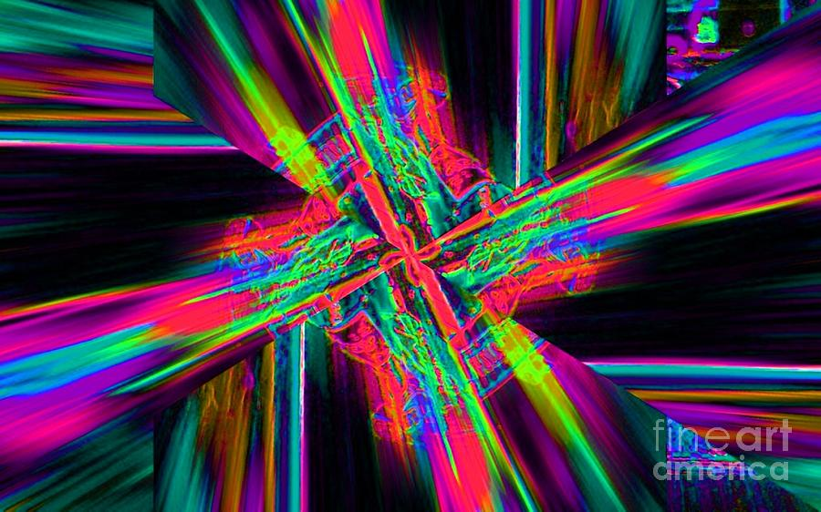 Abstract Digital Art - Gyrocopter by Lorles Lifestyles