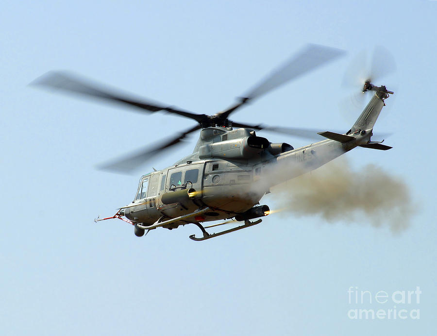 Aircraft Photograph - H-1 Upgrades Test Pilot, Launches by Stocktrek Images