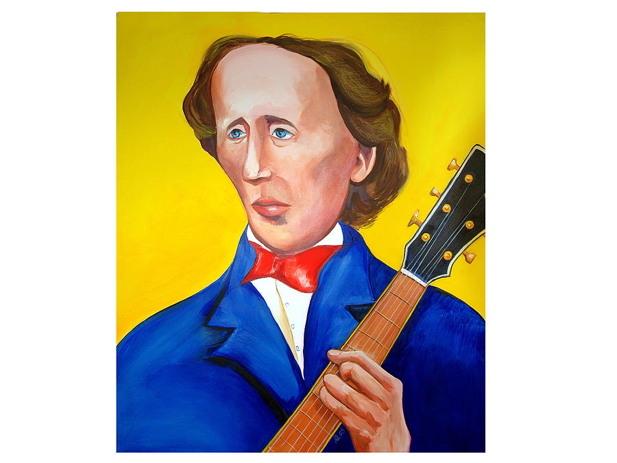 Hans Christian Anderson Painting - H C Andersen Rocks by Robert Lacy