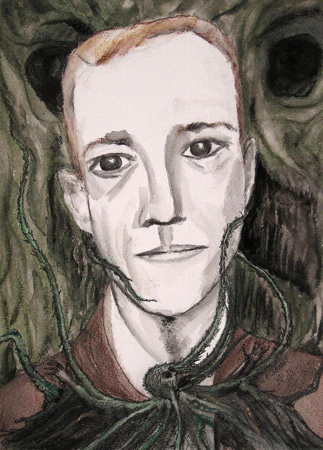 H P Lovecraft Painting by Darkest Artist
