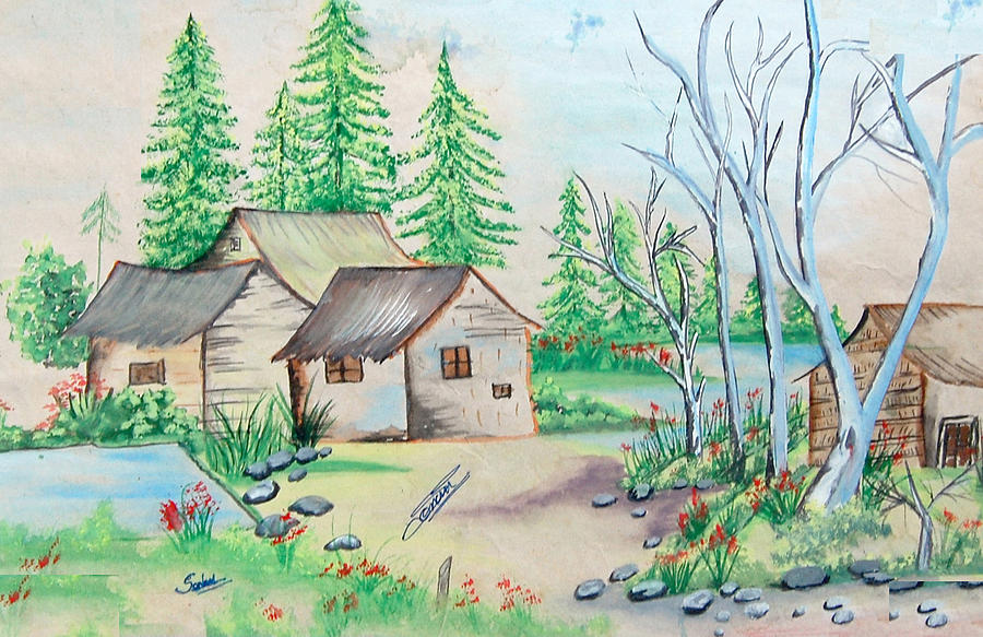 House Painting Painting - h by Sonam Shine